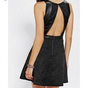 NWT Silence + Noise jacquard Vegan leather dress!